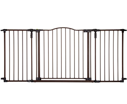 "Deluxe Décor Gate, Bronze, Fits Spaces between 38.3"" to 72"" Wide and 30""high"