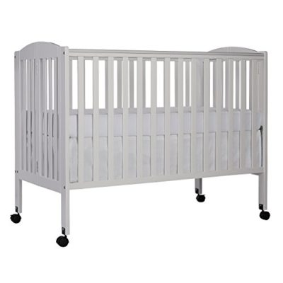 Dream-On-Me-Full-Size-2-in-1-Folding-Stationary-Side-Crib-White-0