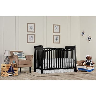 Dream-On-Me-Violet-7-in-1-Convertible-Life-Style-Crib-Black-0-0