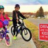 2 Pack - Drive Like Your Kids Live Here Yard Sign, Slow/Children At Play Reminder 18x24 Inches 1825
