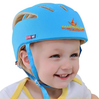 E-Support-Infant-Baby-Adjustable-Safety-Helmet-Headguard-Protective-Harnesses-Hat-Blue-0-3