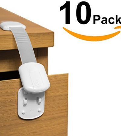 ELLA'S CHILD CABINET LOCKS | Baby & Child Proof Drawers,Bumpers and More | Multi-Purpose Use | No Tools or Drilling Required | Super Strong 3M Adhesive Child Lock (10 Pack)