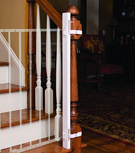 """EZ-Fit: 36"""" Baby Gate Walk Thru Adapter Kit for Stairs + Child and Pet Safety - Protect Banisters + Walls - ONLY includes (1) adapter side"""
