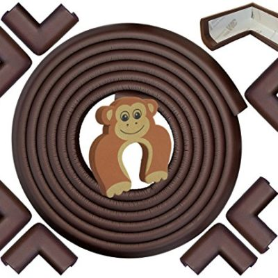 Edge-Corner-Guards-EXTRA-LONG-220ft-Total-Coverage-incl-8-Pre-Taped-Corner-Bumpers-Coffee-Brown-Sharp-Edge-Furniture-Protectors-Childproof-Cushion-Protection-Door-Slammer-Guard-Included-0