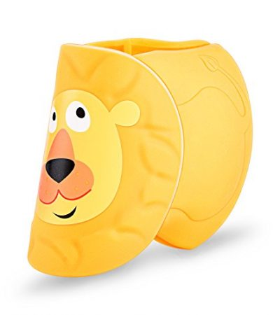 Egnaro Bath Spout Cover ,For Baby Bath Safety,100% Medical Silicone,Cute Lion pattern,Yellow