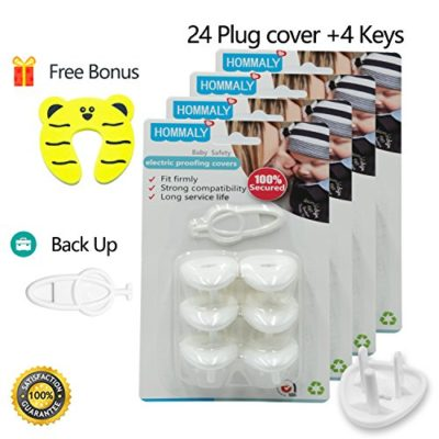 Electric-Outlet-Plugs-covers-Baby-Proofing-24-Plug-5-Keysbaby-safety-ElectricalProtector-Caps-Kit-for-Toddlers-child-0