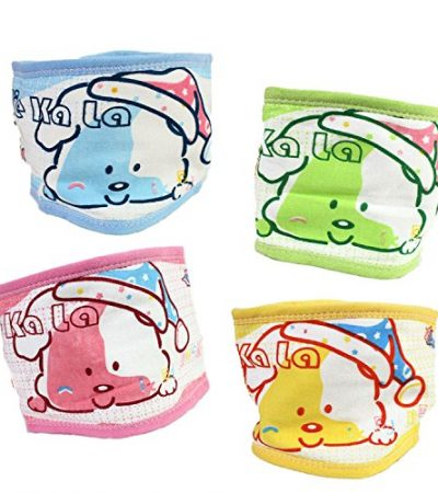 "Fairy Baby 4 PCS Cotton Baby Umbilical Cord Thin Cartoon Bellyband,Fit Waist 15.1""-17.7"""