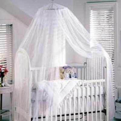 HOODDEAL-Opening-Professional-Baby-Mosquito-Net-Girl-Boy-Toddler-For-Bed-Crib-Canopy-Netting-Available-White-16×7-Feet-0