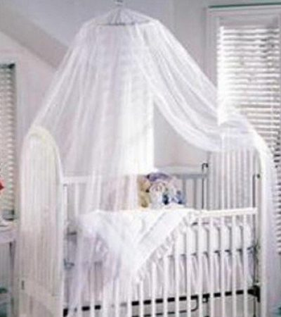 HOODDEAL Opening Professional Baby Mosquito Net Girl Boy Toddler For Bed Crib Canopy Netting Available White 1.6x7 Feet
