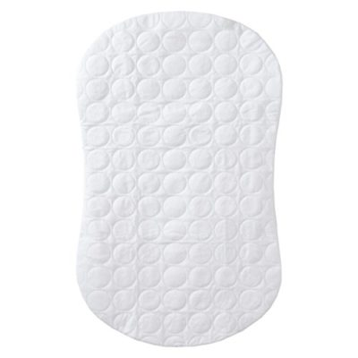 Halo-Bassinest-Swivel-Sleeper-Mattress-Pad-Waterproof-Polyester-White-0