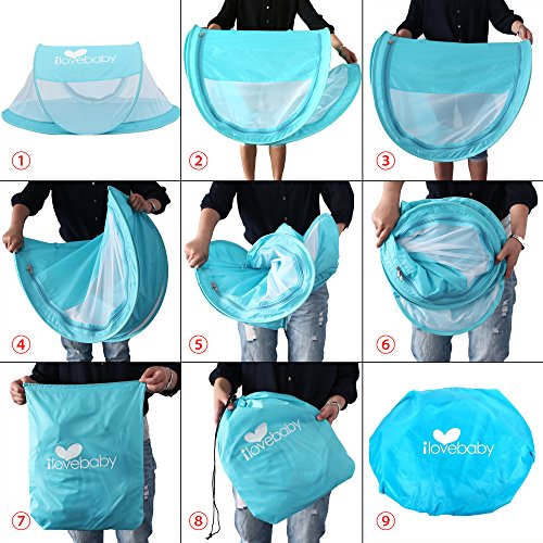 Instant Portable Travel Baby Tent ...  sc 1 st  Baby Cribbed & Instant Portable Travel Baby Tent Beach Tent for Babies Blue ...