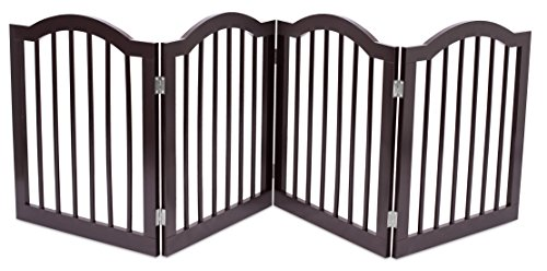 Internet\'s Best Pet Gate with Arched Top | 4 Panel | 24 Inch Step ...