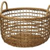 KOUBOO Open Weaver Wicker Basket with Liner, Large 3300