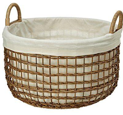 KOUBOO-Open-Weaver-Wicker-Basket-with-Liner-Large-0