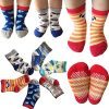 Kakalu Assorted Non-Skid Ankle Cotton Socks with Grip for 12-36 Months Baby, Cartoon 2, 6-Pairs 1805