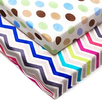 Kenley-Pack-n-Play-Playard-Sheet-Set-2-Fitted-Sheets-for-Playpen-Portable-Crib-Mini-Travel-Play-Yard-Waterproof-Soft-Minky-Fabric-Protects-Mattress-Nursery-Bedding-for-Baby-Toddler-Girl-or-Boy-0