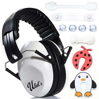 Kids-Ear-Muffs-Hearing-Protection-WBONUS-childproofing-Kit-Child-Noise-Cancelling-Headphones-Foldable-Design-Adjustable-for-Baby-and-Toddler-Safer-than-Ear-Plugs-0