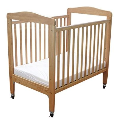 LA-Baby-Compact-Non-folding-Wooden-Window-Crib-Natural-0