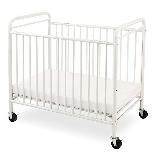 LA Baby  The Condo Metal Evacuation Window Crib, White