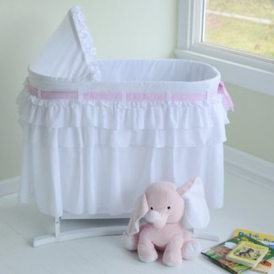 Lamont-Home-Good-Night-Baby-Bassinet-Full-White-Skirt-0