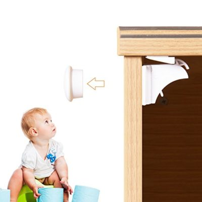 Magnetic-Child-Safety-Cabinet-Locks-6-Locks-2-Keys-with-3M-Adhesive-for-Cabinets-Drawers-Adoric-Child-Proof-Cabinet-Locks-with-Drill-free-Easy-Installation-0
