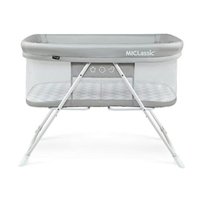 MiClassic-2in1-Rocking-Bassinet-One-second-Fold-Travel-Crib-Portable-Newborn-BabyGray-0