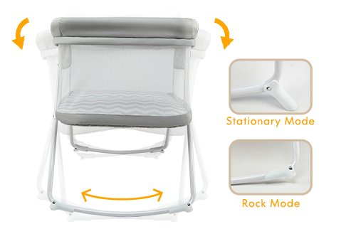 MiClassic 2in1 Rocking Bassinet Onesecond Fold Travel Crib Portable