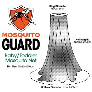 Mosquito Guard Baby Crib Netting - (FREE Stroller Netting Included) Compatible with Baby/ Toddler Cribs, Beds, Bassinets, Playpens, Cradles ( WHITE ) 819