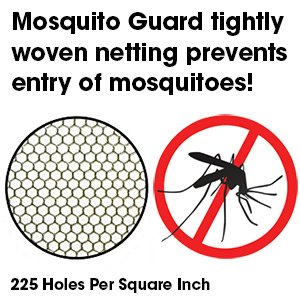 Mosquito Guard Baby Crib Netting - (FREE Stroller Netting Included) Compatible with Baby/ Toddler Cribs, Beds, Bassinets, Playpens, Cradles ( WHITE ) 821