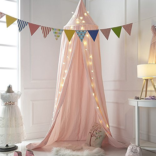 Mosquito Net Canopy ... & Mosquito Net Canopy Cotton Canvas Dome Princess Bed Canopy Kids ...