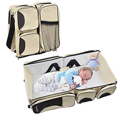 Multi-Functional 3 in 1 Diaper bag - Travel Bassinet - Waterproof Changing Station For Comfort Traveling!