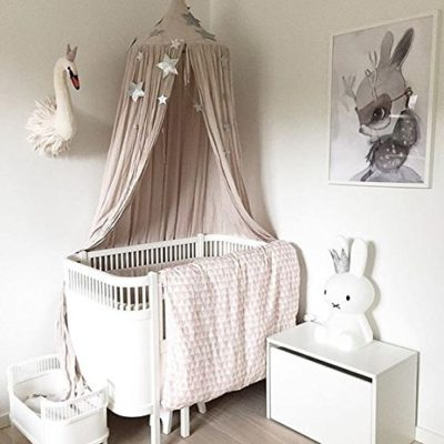 Nakital-Bed-Canopy-For-Girls-Kids-Crib-Mosquito-Netting-Dome-Princess-Net-Dome-Princess-Cotton-Cloth-Tents-Baby-Room-Decorate-Tent-Bedding-For-Childrens-Reading-Play-Indoor-Games-House-945-inch-0