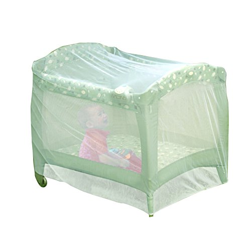 Nuby Baby Playpen Netting, Universal Size, White, Pack N Play Mosquito Net Tent, Play Yard Kid Insect Mesh Cover