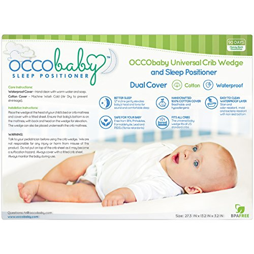 OCCObaby Universal Crib Wedge And Sleep Positioner For Baby