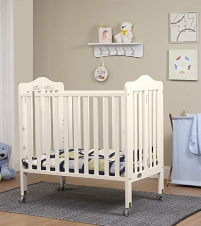 Orbelle Tina Three Level Mini Crib, French White