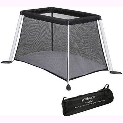 Phil-Teds-TRV45-Traveller-V4-CotCrib-Black-0