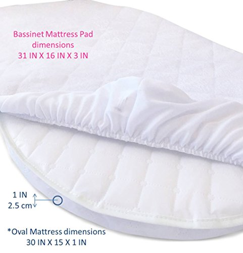 Premium Bassinet Mattress ... - Premium Bassinet Mattress Pad Waterproof Bamboo Cover - Fits HALO