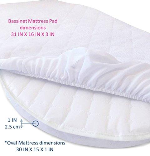 Premium Bassinet Mattress Pad Waterproof Bamboo Cover