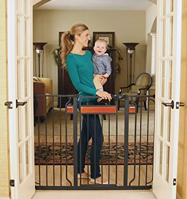 Regalo-Home-Accents-Extra-Tall-Walk-Thru-Gate-Hardwood-and-Steel-0