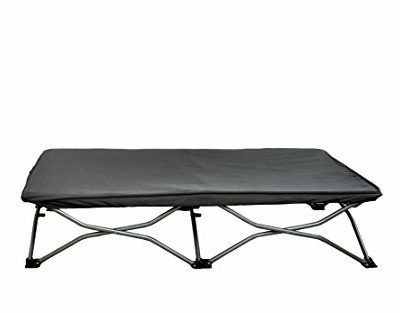 Regalo-My-Cot-Portable-Travel-Bed-Grey-Includes-Fitted-Sheet-and-Travel-Case-0