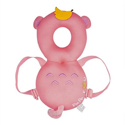 SKL-Baby-Toddler-Head-Protector-Infant-Adjustable-Head-Shoulder-Safety-Pad-Cushion-Walkers-for-Baby-Learning-Walking-Prevent-Head-Injured-for-Age-6–24-Months-pink-monkey-head-protector-0-4