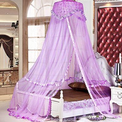 Sinotop-Luxury-Princess-Bed-Net-Canopy-Round-Hoop-Netting-Mosquito-Net-Bedroom-Decor-purple-0