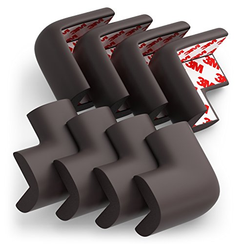 Soft Baby Proofing Corner Guards & Edge Protectors - PreApplied 3M tape, 8 PACK