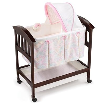 Summer-Infant-Classic-Comfort-Wood-Bassinet-Bedtime-Blossom-0