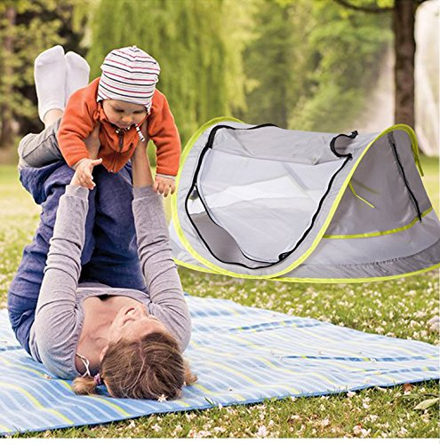 Sunnec Large Baby C& Tent UPF 50+ Sun Portable ...  sc 1 st  Baby Cribbed & Sunnec Large Baby Camp Tent UPF 50+ Sun Portable Baby Travel Bed ...