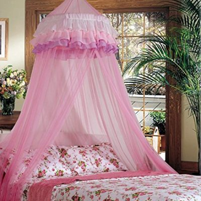 Superbuy-Elegant-Ruffle-Lace-Bed-Canopy-Mosquito-Netting-Dome-Princess-0
