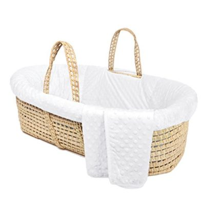 Tadpoles-Minky-Dot-Moses-Basket-Bedding-Set-White-0