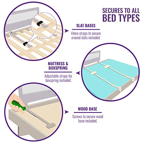 Toddler Bed Rail Guard For Convertible Crib Kids Twin