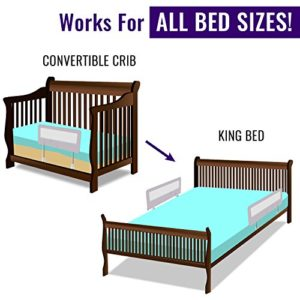 Toddler Bed Rail Guard For Convertible Crib Kids Twin Double Full King Bedrails By Comfypy Grey 0 2