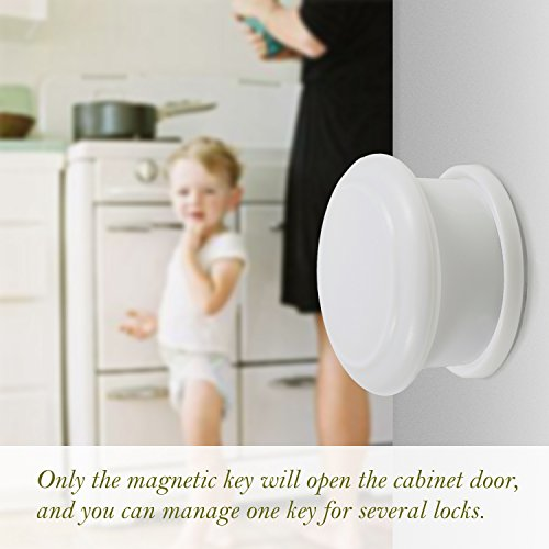 Toplus Baby Safety Magnetic Cabinet Locks No Tools Or